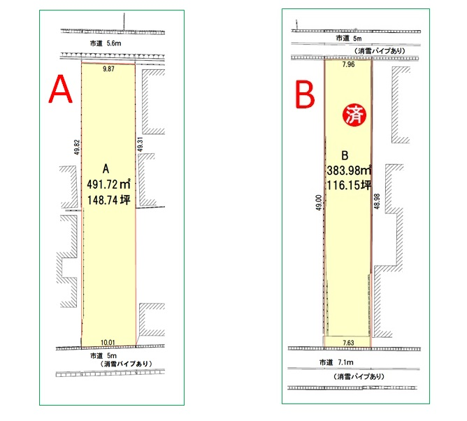 A・B区画図