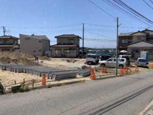宅地造成中 令和2年5月撮影 東側より