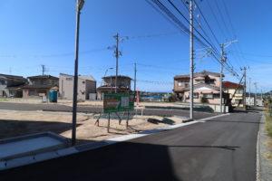 前面道路 南東から R2年10月撮影