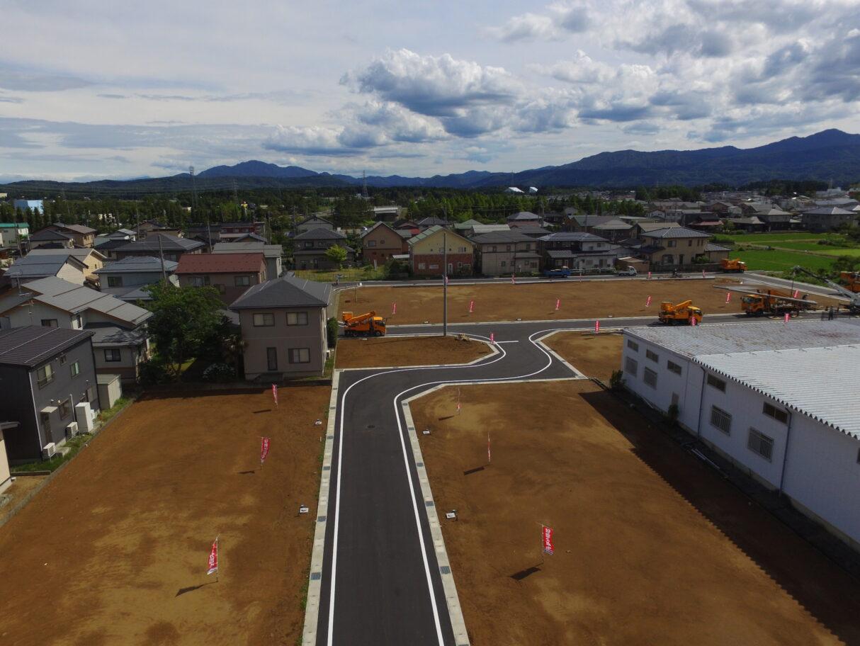 北側上空から分譲地を撮影 R3年7月