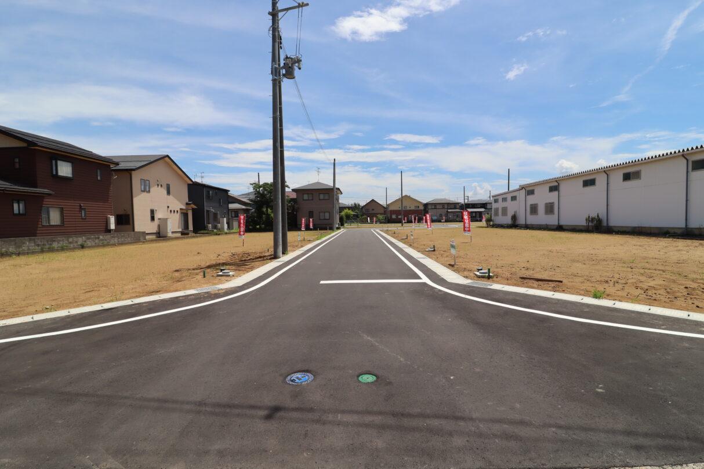 北側から分譲地を撮影 R3年7月撮影