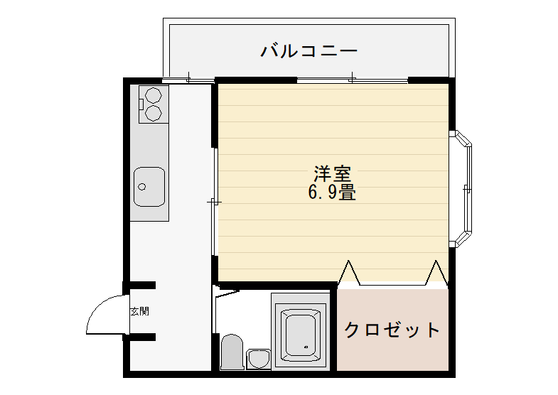 205号室間取図