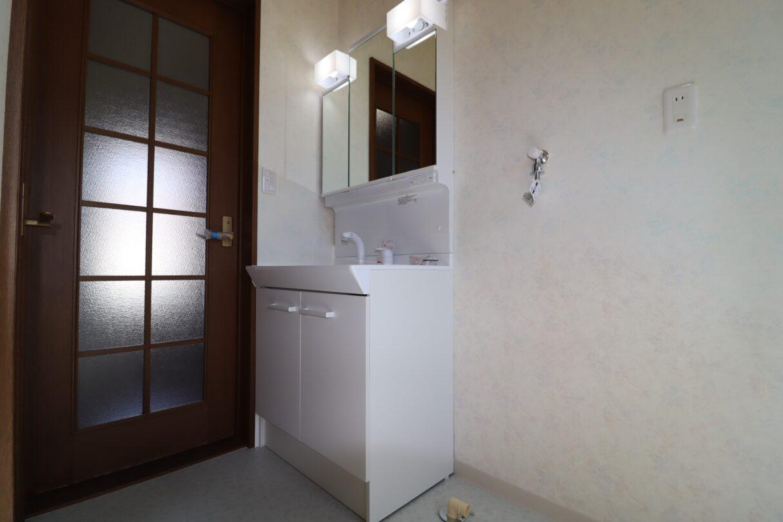 洗面台(三面鏡、シャワーノズル付き)2 新品